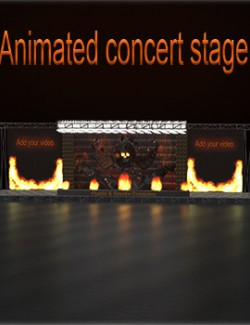 Animated concert stage
