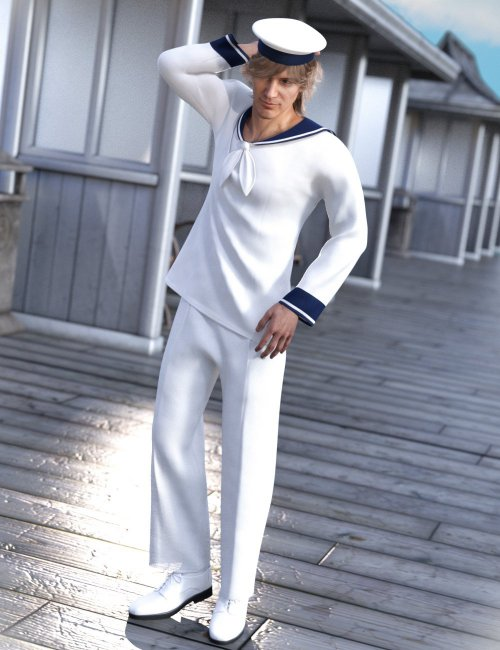 dForce Sailorman Outfit for Genesis 8 Males