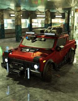 Cyberpunk Pickup Truck