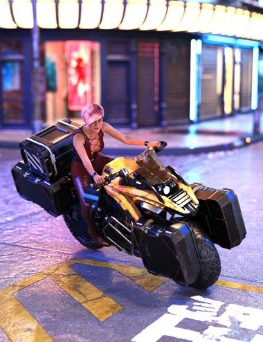 Cyberpunk Motorcycle