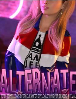 Alternate dForce Jennifer Style Clothing for Genesis 8 Females