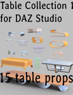 Table Collection 1 for DAZ Studio