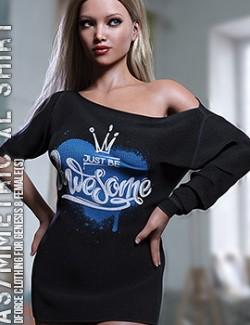 dForce Asymmetric XL Shirt for Genesis 8 Females