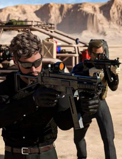 Urban Tactical SMG Poses for Genesis 3 and 8