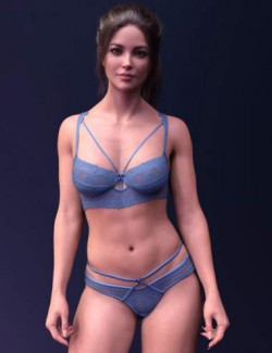 X-Fashion Dainty Lace Lingerie Set for Genesis 8 and 8.1 Females
