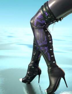 Drow Mercenary Boots for Genesis 8 Females