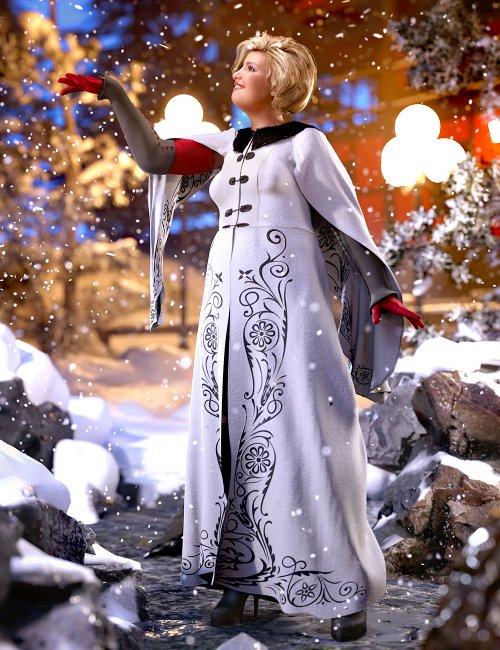 dForce Winter Splendor Outfit for Genesis 8 Females