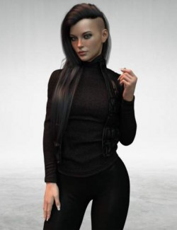 X-Fashion Autumn Winter Outfit for Genesis 8 Females