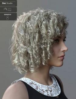 Julia Curly Locks for Genesis 8 and 8.1 Females