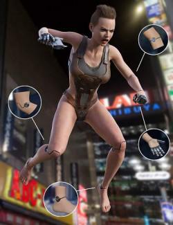 Cyber Implants for Genesis 8 Females