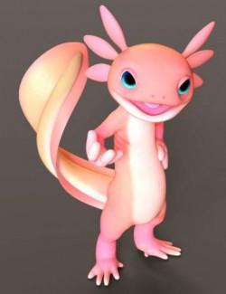Toon Axolotl for Genesis 8 Males
