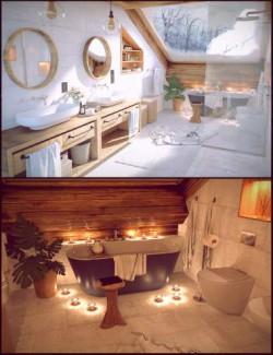 Winter Vacation Bathroom