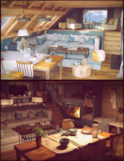 Winter Vacation Living Room