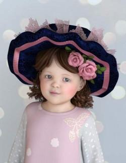 PreT Girls Dolly Cap Hair for Genesis 8 Females