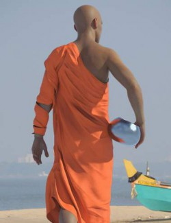 dForce Buddhist Monk Robes for Genesis 8 Males