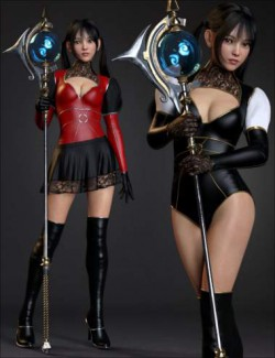 dForce Miki the Witch Outfit Set for Genesis 8 Females