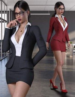 Businesswoman Outfit Set for Genesis 8 and 8.1 Females