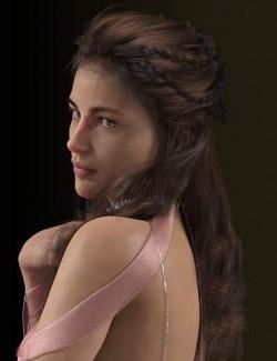 dForce Rose De Mai Hair for Genesis 3 and 8 Females