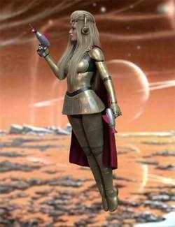 Retro Sci Fi Poses for Genesis 8 and 8.1 Females