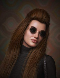 Long Bump Hair for Genesis 3, 8, and 8.1 Females