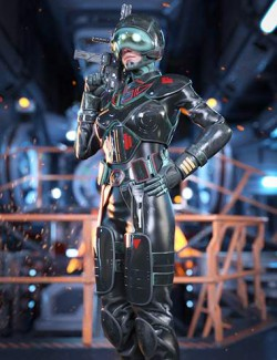 Sci-Fi Heavy Armor for Genesis 8.1 Females