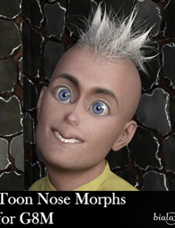 Toon Nose Morphs for G8M and G8.1M