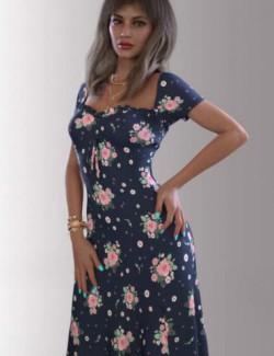 dForce Bella Dress Outfit for Genesis 8.1 Females
