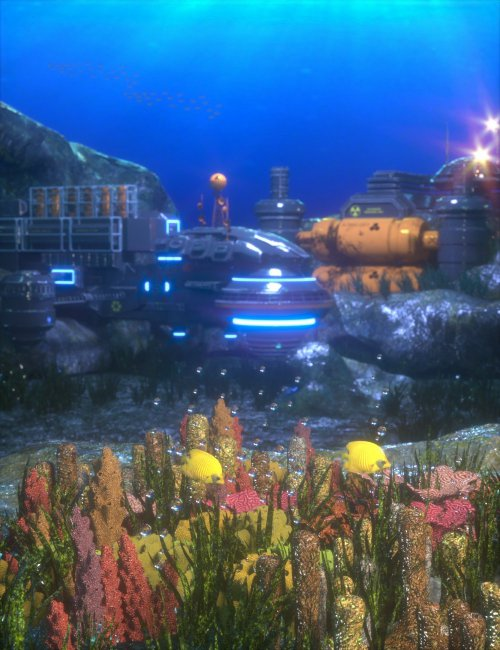 Sci-Fi Underwater Base