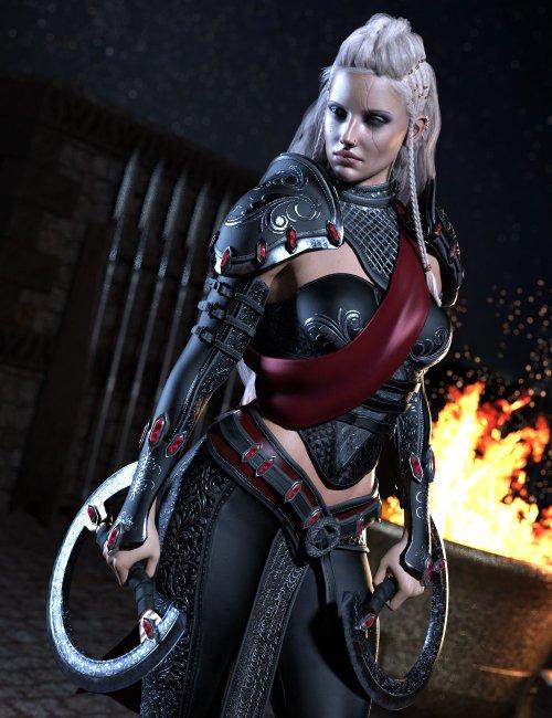 Samarah Shadow Rogue Outfit for Genesis 8.1 Females
