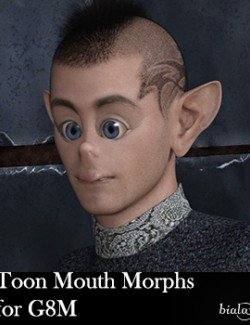 Toon Mouth Morphs for G8M and G8.1M