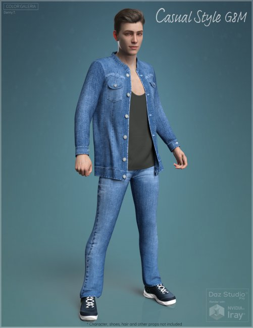 CGI Casual Style Outfit for Genesis 8 Male