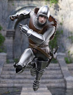 The Western Knight Series 01 for Genesis 8 Males