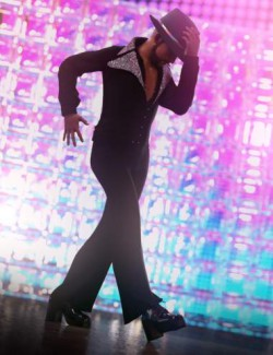 dForce Disco Boogie Outfit for Genesis 8 Males