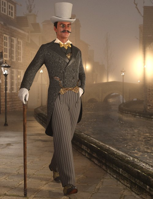 Victorian Gentleman's Evening Dress for Genesis 8 and 8.1 Males