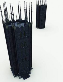Tower of Necromancy for Poser