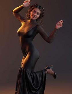 dForce Flare Dress for Genesis 8 Females