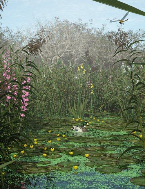 Wetlands Low Res Plants for Vol 2 - Flowering Plants