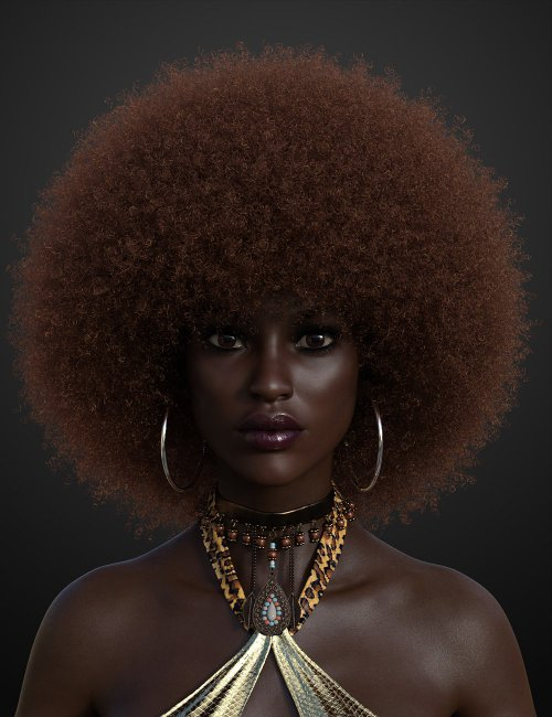 Afro Hair for Genesis 3 and 8