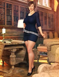 dForce Business Afternoon Outfit for Genesis 8 and 8.1 Females
