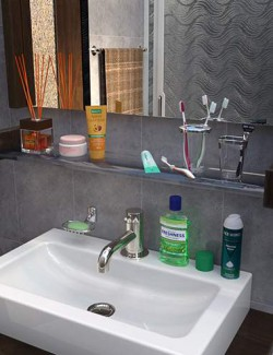 Bathroom and Household Chemicals Props