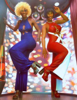dForce Disco Flare Outfit Textures