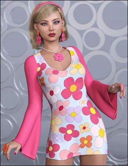 dForce Flower Power Outfit for Genesis 8 Female
