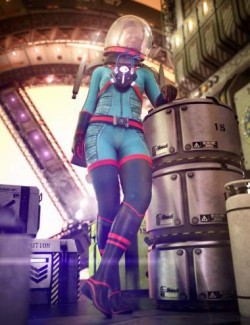 Stellar Spacesuit for Genesis 8.1 Females