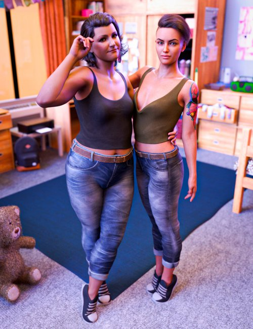 Casual Wear Outfit for Brooke 8.1 and Genesis 8.1 Females
