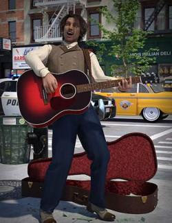 Acoustic Guitar and Poses for Genesis 8