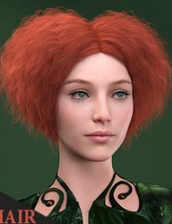 Cordiform Hair for Genesis 8 Female