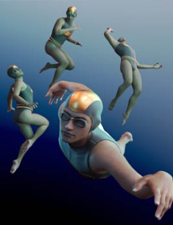 HF Underwater Action Poses for Genesis 8 Male