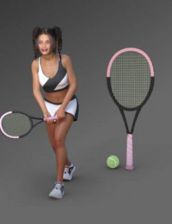 IM Tennis Outfit for Genesis 8 Females