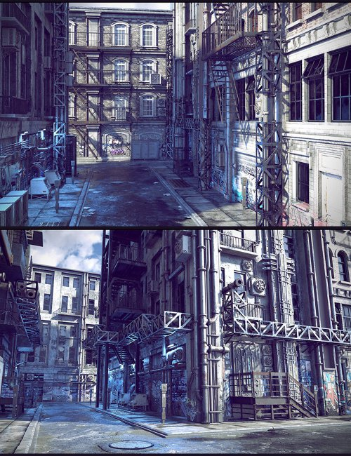 Cyberpunk Back Alley