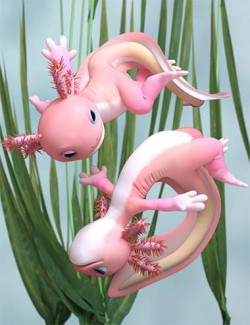 Ajolote Hierarchical Poses for Toon Axolotl